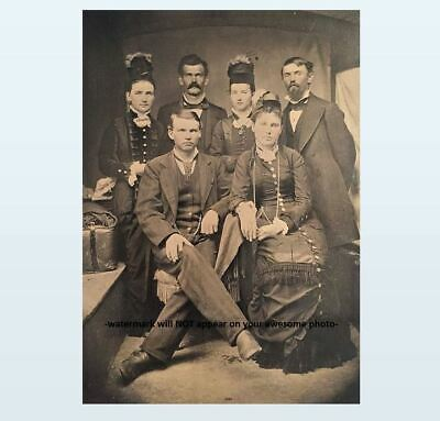Doc Holliday Wyatt Earp Group PHOTO Big Nose Kate Wild West US Marshal Sheriff
