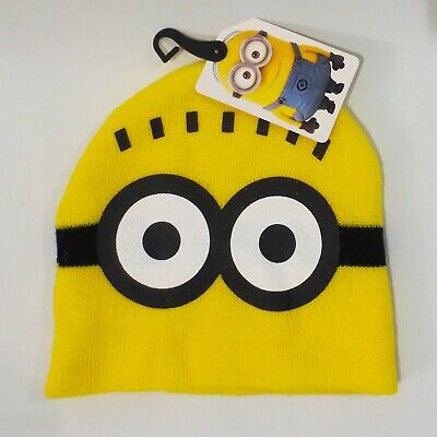 9e3a89066f2 MINIONS DESPICABLE ME Winter Beanie Knit Hat Kids One Size -  5.00 ...