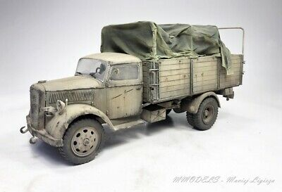 Opel Blitz WW2 German troops   scale 1:35 - built and painted (Pro-Built)