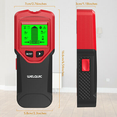 Pro 3 In 1 LCD Stud Wood Wall Center Finder Scanner Metal AC Live Wire Detector