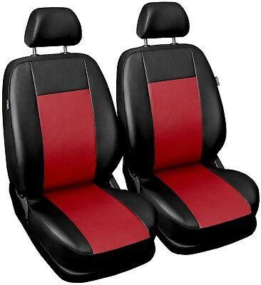 Leatherette seat covers fit Fiat Idea 1+1 black/red