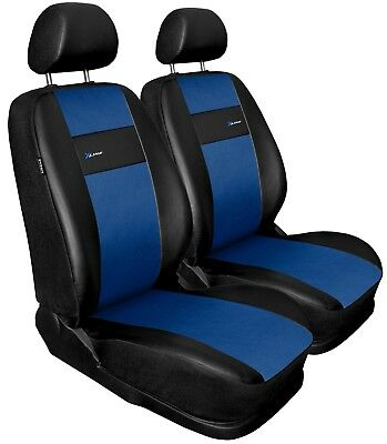 Front seat covers fit Volvo XC60 black/blue  Leatherette