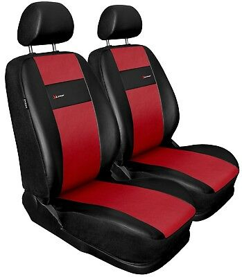Front seat covers fit Volvo V90 black/red  Leatherette