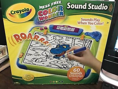 Crayola Mess Free Color Wonder Sound Studio Drawing Board Battery Operated