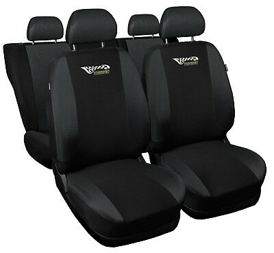 Full set car seat covers fit Volkswagen Golf black/grey seat cover