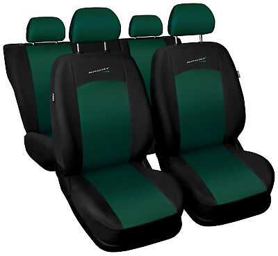 Car seat covers fit Volkswagen Vento - full set green/black sport style