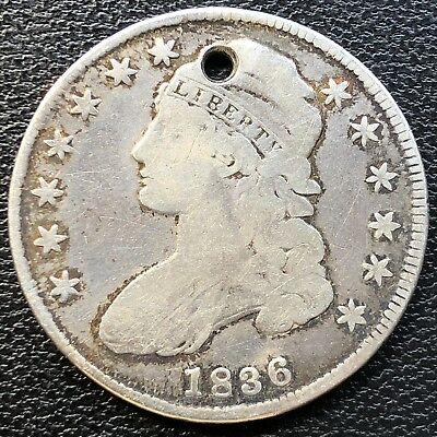 1836 Capped Bust Half Dollar 50c Circulated #13472