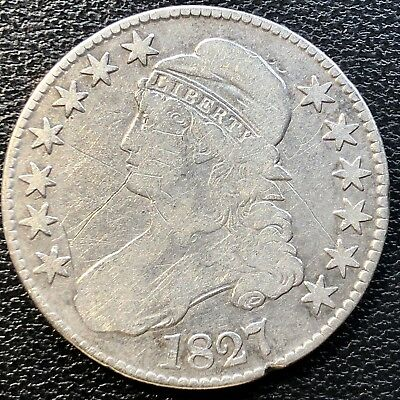 1827 Capped Bust Half Dollar 50c Circulated #13456