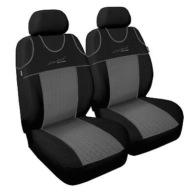 LEATHER LOOK CAR SEAT COVER FULL SET BLACK BLUE For VAUXHALL CORSA D 07+