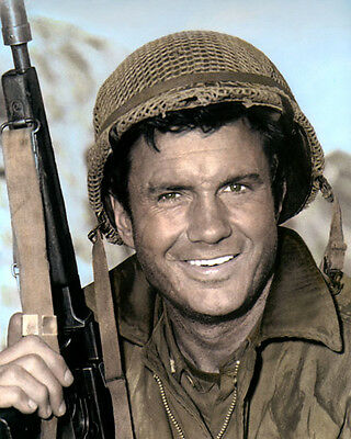 """CLIFF ROBERTSON THE DEVIL'S BRIGADE 1968 8x10"""" HAND COLOR TINTED PHOTOGRAPH"""