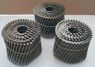 3 Coils of 3.3 x 98mm Flat Wire Coil Nails Bostitch - more available