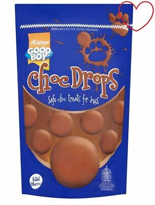 Choc Dog Drops Treats Good Boy Training Buttons Chocolate Safe