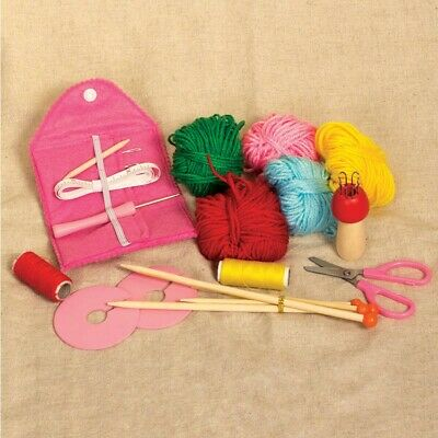 Knitting Starter Complete Kit Beginners Perfect Kids Gift Fun Learn how to Knit