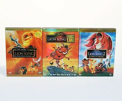 The Lion King 1, 1.5, and 2 Trilogy Brand New 3-DVD Set SHIPS FAST BRAND NEW