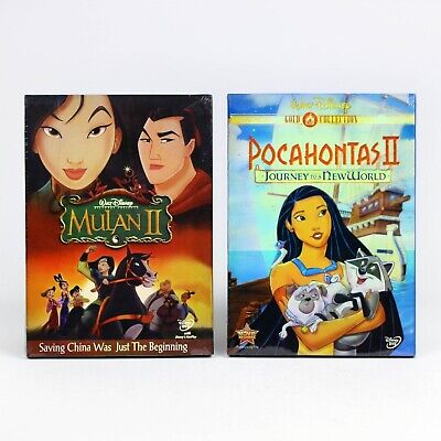 Mulan 2 and Pocahontas 2 - Disney DVD 2 Lot BRAND NEW SHIPS FAST