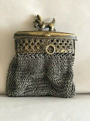 Antique   Bronze Russian Mini  Purse  Clutch  Weave  With Very Small Rings