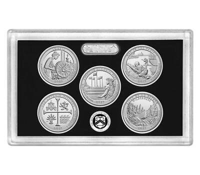 2019-S SILVER Proof National Parks (99.9%) 5 coin set, including COA but NO BOX
