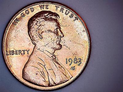 """1983 D Lincoln Cent Error """"Blemish dots on incuse"""""""