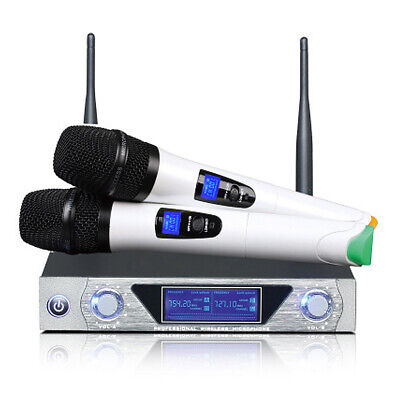 UK Pro Wireless 2 Channel Dual Handheld Microphone Mic System Kits f Party