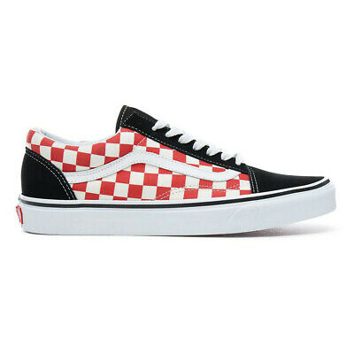 1317f1df9de VANS OLD SKOOL Checkerboard Black/Red Gr. 11 / 45 - $89.56 | PicClick