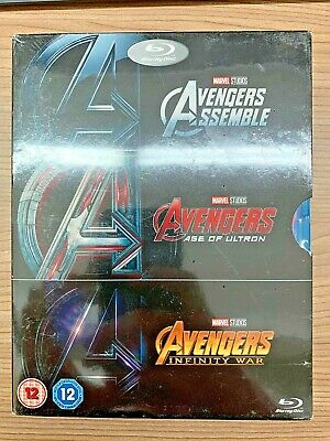 AVENGERS 3-movie collection (Assemble, Age of Ultron, Infinity War) REGION FREE