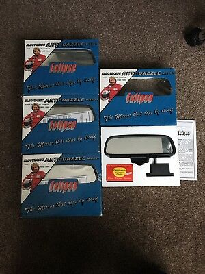 Joblot 1980's RETRO CAR ELECTRONIC ANTI DAZZLE AUTO DIPPING REAR VIEW MIRROR KIT
