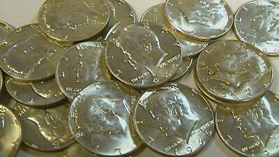 ROLL MIXED DATE 40/% Silver Kennedy Half Dollars AVERAGE CIRCULATED TO UNC//BU 20