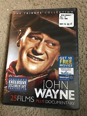 "John Wayne The Tribute Collection (DVD,4-Disc Set, 25 Films + Documentary) ""New"""