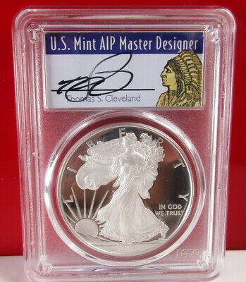 2018 W American Silver Proof Eagle PCGS PR70 Thomas Cleveland First Strike