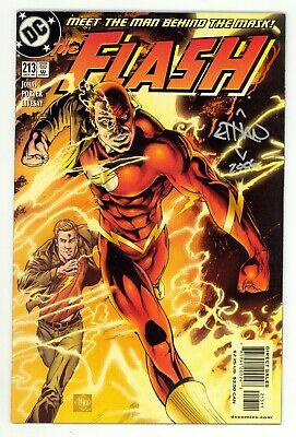 Flash (1987) #213 1st Print Geoff Johns Signed by Ethan Van Sciver No COA VF/NM