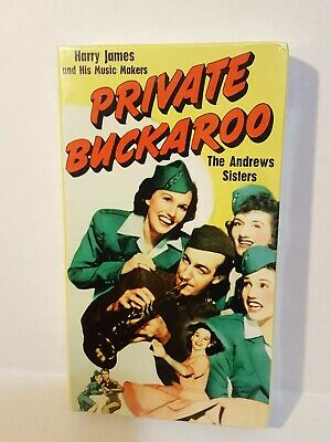 VHS Private Buckaroo (1942 B&W) 1995 Alpha Video NEW Factory Sealed RARE !!
