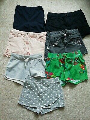 Girls Bundle Job Lot Summer Shorts X 7 Pairs Age 10-11 Years NEXT H&M MATALAN