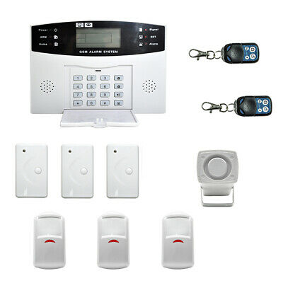 Awesome Wireless Wired Lcd Gsm Sms Home House Alarm System Security Burglar Sensors Ty Home Interior And Landscaping Synyenasavecom