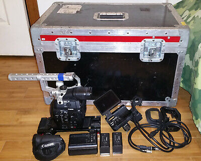 Canon EOS C300 Cinema HD Camcorder Body 1088 Hour with EF Lens Mount & Extras