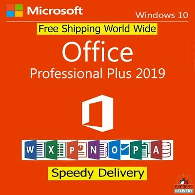 Microsoft Office 2019 Professional Plus Windows Product Key License Lifetime