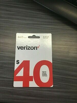 Brand-New $40 Verizon Wireless Prepaid Refill Card (Email Delivery)