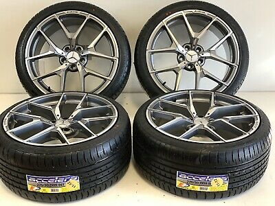 19 Inch 5x112 Wheels Rims Tires Gray Fit Mercedes Benz C Cl Clk E S Slk Amg