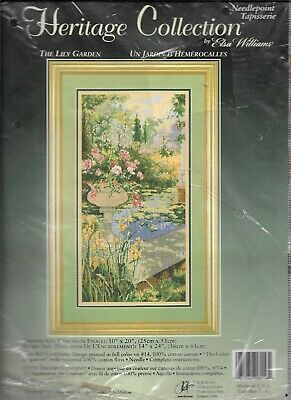 JCA/Heritage Collection Needlepoint Kit, THE LILY GARDEN, Sealed, MPN 06016