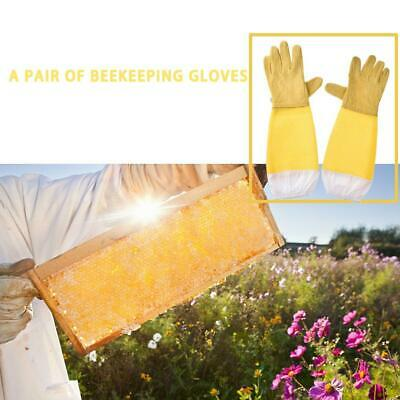 1Pair Beekeeping Gloves Goatskin Bee Keeping with Vented Beekeeper Long Sleeves