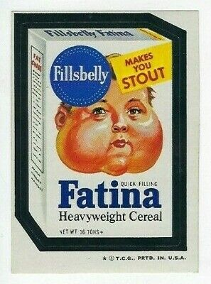 1974 Wacky Packages 5th Series 5 FILLSBELLY FATINA CEREAL high-gloss nm- o/c