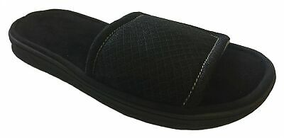 8f9c1b7c7f7 DEARFOAMS MEN S MEMORY Foam Mesh Slide Sandal Slippers (Medium 9-10 ...
