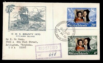 DR WHO 1972 PITCAIRN ISLANDS FDC ROYAL WEDDING ANNIV QUEEN ELIZABETH II  e06276