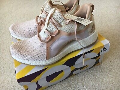 21ac8cb71 Women s adidas PureBOOST X Clima Running Shoes White Ash Pearl Tint Size 9.0