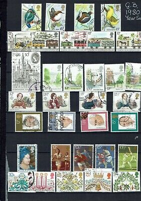 GB Commemorative Stamps 1980 Year Set fine used