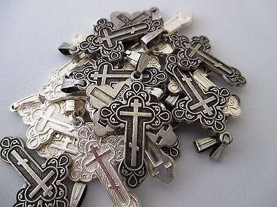 Lot Of 10 Pcs Orthodox Lovely Crosses, Pendant Made In Jerusalem, Holy Land