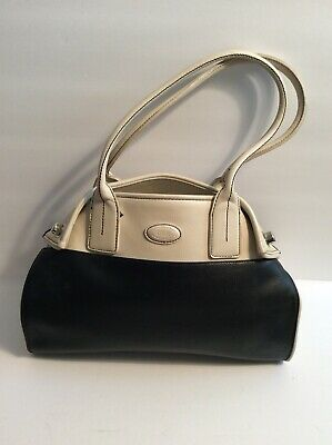 TOD'S BLACK SOFT Leather Satchel Shoulder Bag Handbag Purse