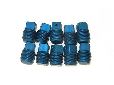 Lot of 10 .5-20 Aluminum Pipe Fittings AN