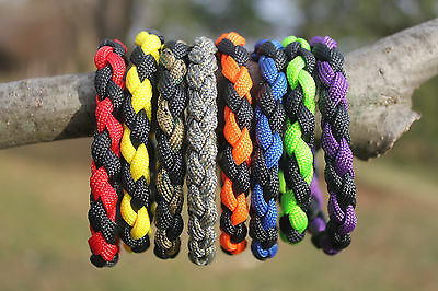 550 Paracord Round Braid Bracelets