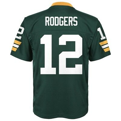 Brand New Green Bay Packers Aaron Rodgers Boys Youth Football Jersey (L) Large