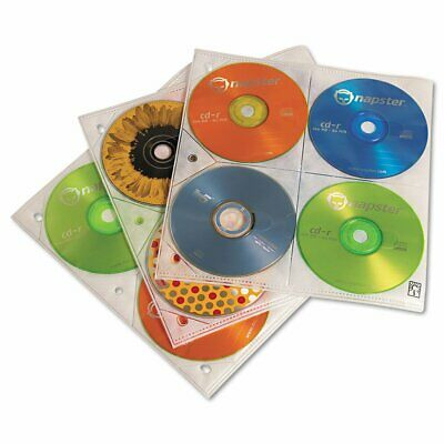 Lot of 22 Case Logic Two-Sided CD Storage Sleeves for Ring Binder, 25 Sleeves